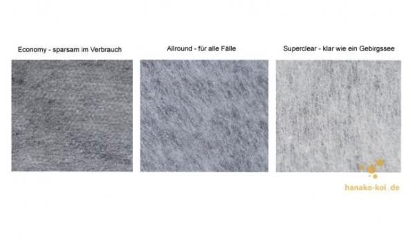 Vliesrolle SUPERCLEAR 500 für Crystal Clear Filter (50cm x 200m)