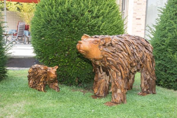 Teak-Holz Großer Bär