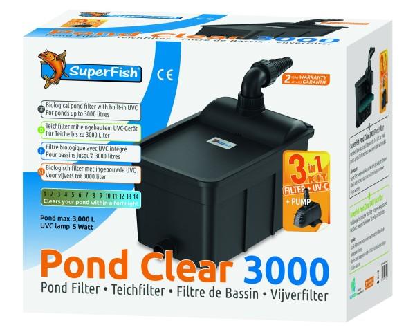 Superfish Pondclear Kit 3000 - UVC 5W- Pumpe 1000L/H