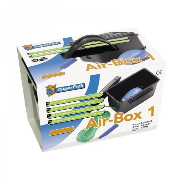 Superfish Air-Box 1 Belüftungs - Set (96 l/h) für Teich u. Aquarium
