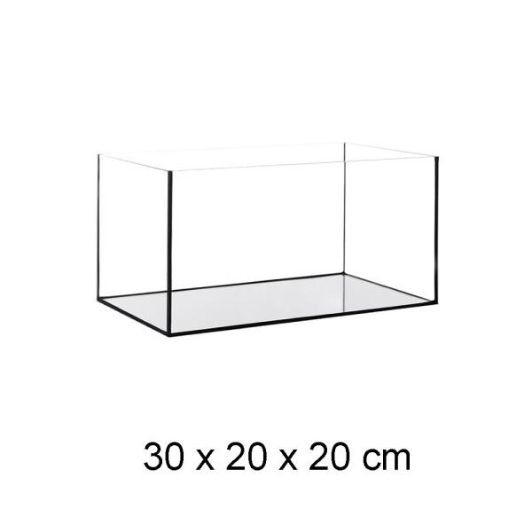Aquarium Becken Glasbecken 30x20x20 cm inkl. Unterlage + Steinboden Naturel