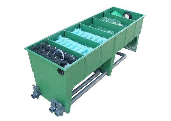Pondlife GFK 6-Kammerfilter bis 50.000 Liter (inkl. Deckel, Filtermaterial + Verrohrung)