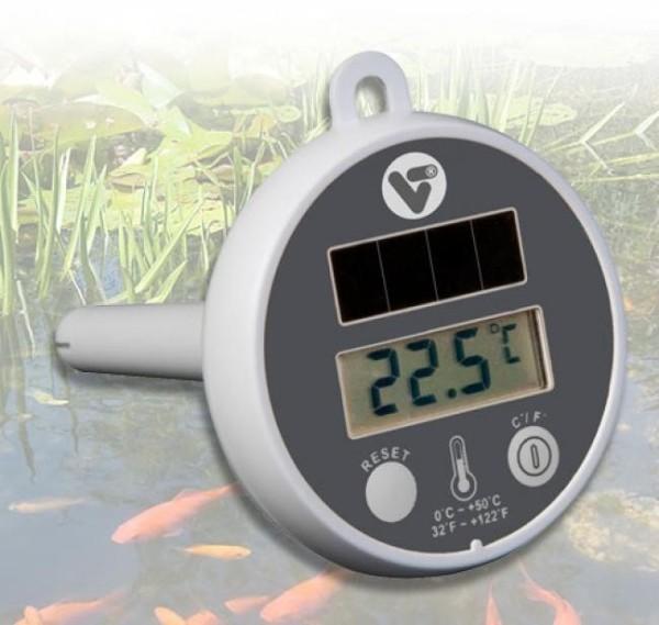 Velda Solar Pond Thermometer, Treibendes digitales Thermometer für den Teich