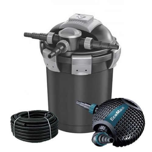 Velda VEX-300 Druckfilter 15000 + UVC + Aquaforte O-6500 Pumpe, Teichfilter SET