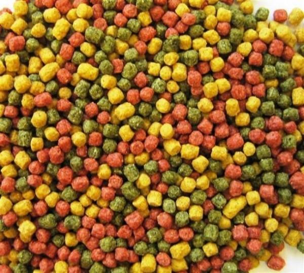 AL-Profi-Futter Mix rot/gelb/grün d 3 mm 15 kg, 33% Protein, 3% Fett