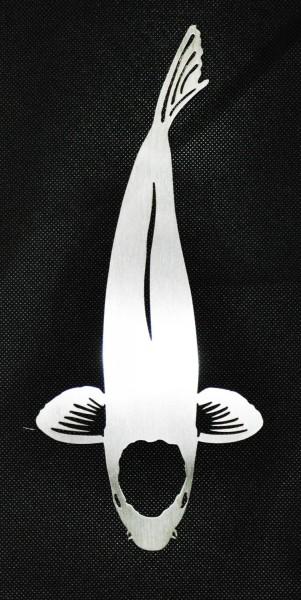 Tancho Edelstahl Deko Koi 70cm