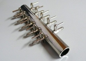 Luftverteiler 10-fach aus Metall getrennt regelbar