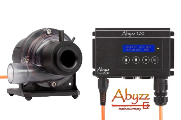 Abyzz A200AS / 3 m - regelbare Teichpumpe 10000 l/h - 5 bis 200 Watt - Energiesparpumpe