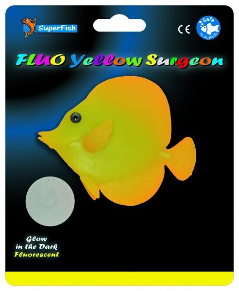 Superfish Fluo Deko Gelber Doktorfisch