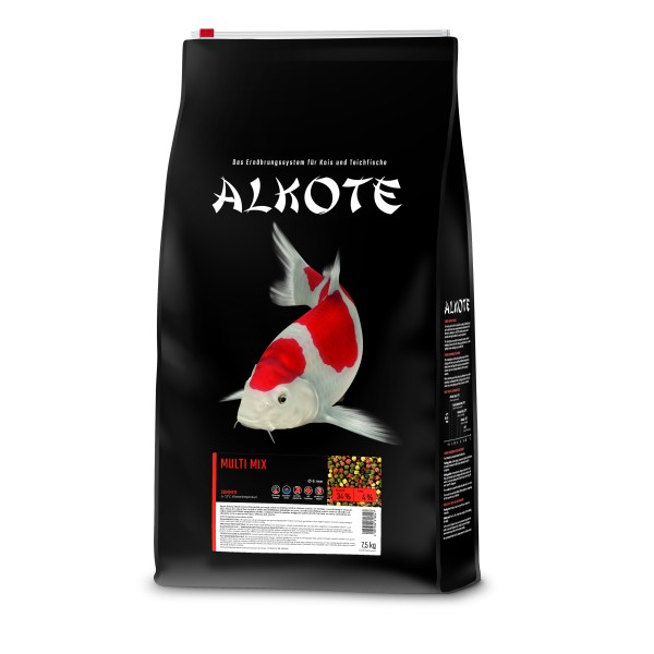 Alkote Koifutter Multi Mix (7,5 kg / Ø 6 mm) Basisfutter ideal für die Sommermonate