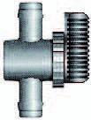 Lufthahn Kunststoff 10 x 10 mm - 2 x Tülle