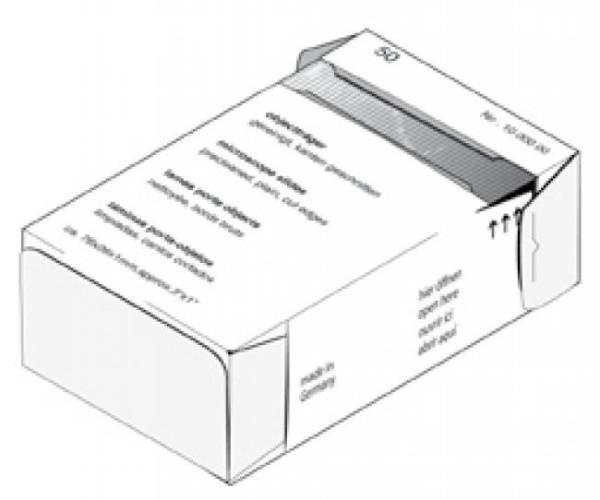 Aqualogistik Objektträger 76 * 26 mm, 50 Stück