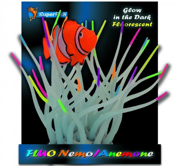 Superfish Fluo Deko Nemo mit Anemone