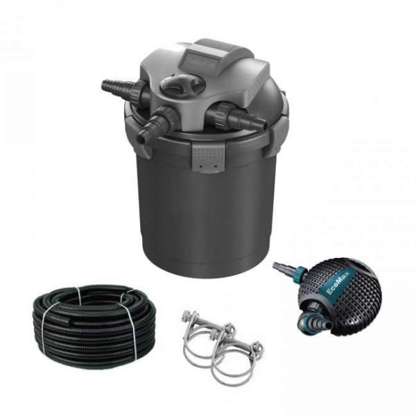 Druckfilter Komplett Set Superfish Top Clear 5000 + UVC-7W + Pumpe + Schlauch und Schellen