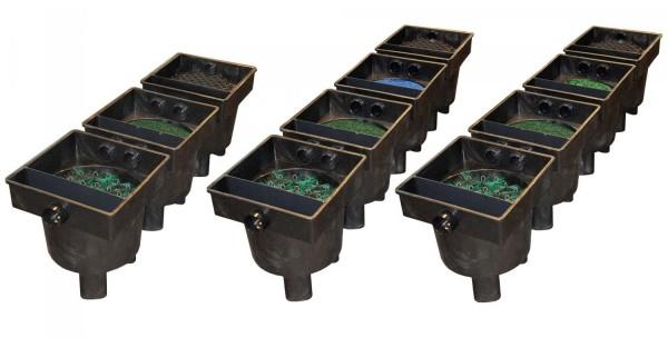 Connect Clear 4 Kammer Filtersysteme mit Eco Pond Chip bewegendes Filtermedium