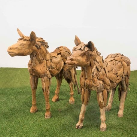 Teak-Holz Pferd