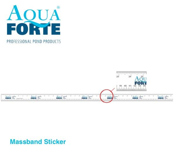 AquaForte Massband Sticker