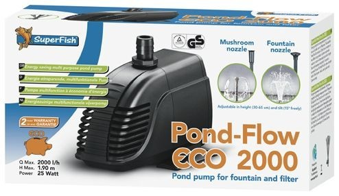superfish-pond-flow-eco-2000-teichpumpe-filterpumpe, 42.95 EUR @ hanako-koi