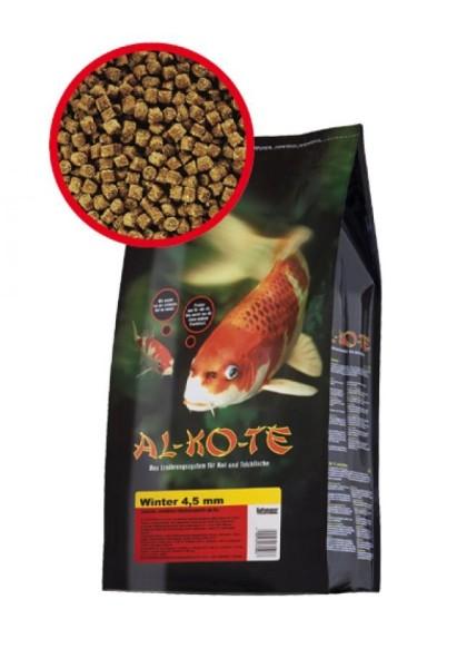Alkote Koifutter Winter (4 kg / Ø 4,5 mm) Sinkfutter für kalte Wassertemperaturen