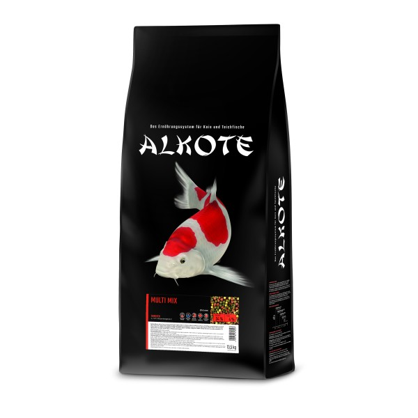 Alkote Koifutter Multi Mix (13,5 kg / Ø 6 mm) Basisfutter ideal für die Sommermonate