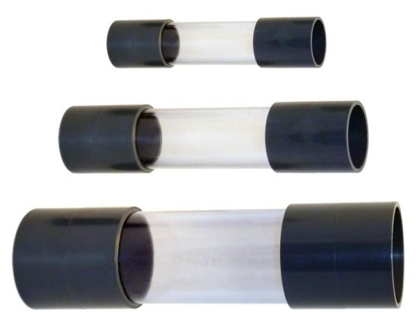 Sichtglas Mit 2 x Klebemuffe 63mm
