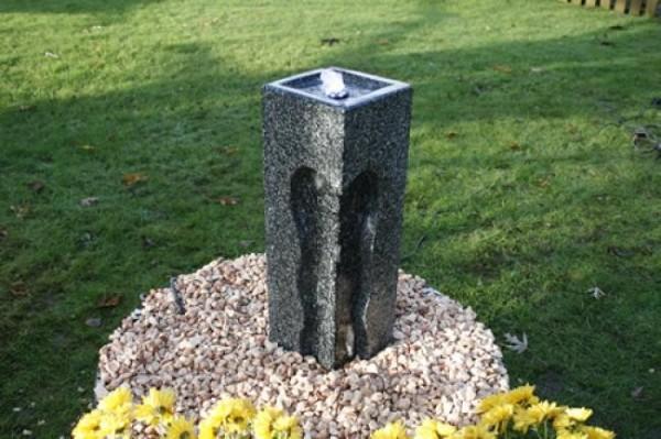 Design Tower - Granit Design Säule 45cm x 15cm x15cm Springbrunnen Gartenbrunnen Wasserspiel