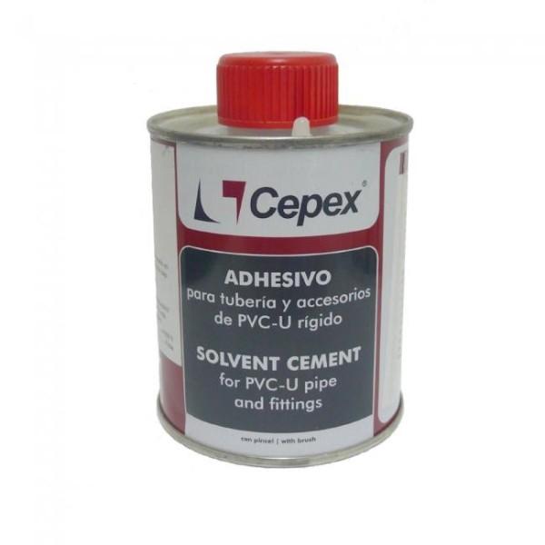 Cepex Hart PVC Kleber mit Pinsel für PVC - Fittings Teichbau, Schwimmbad