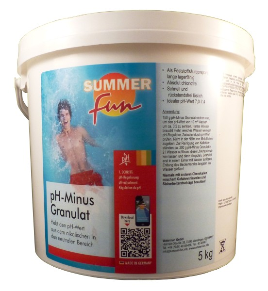 Summer Fun PH - Minus 7,5kg, PH - Wert Senker