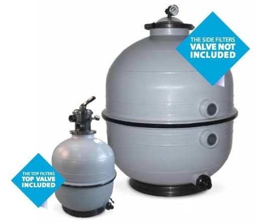 PooI Injektion Sandfilter - Mediterraner Filter Top & Side