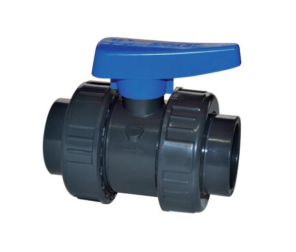 Effast PVC Kugelhahn 20 mm TP (PN 16 bar) 2x kleben
