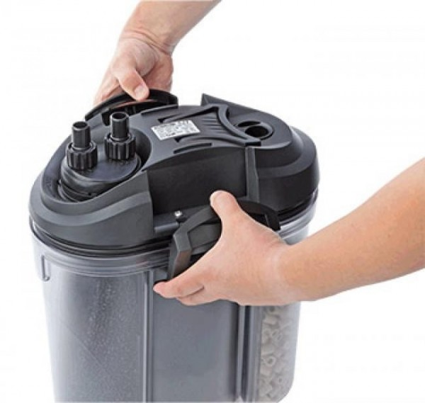 Eden 521 Aquarien Außenfilter für 200Liter Becken inkl. Filtermaterial