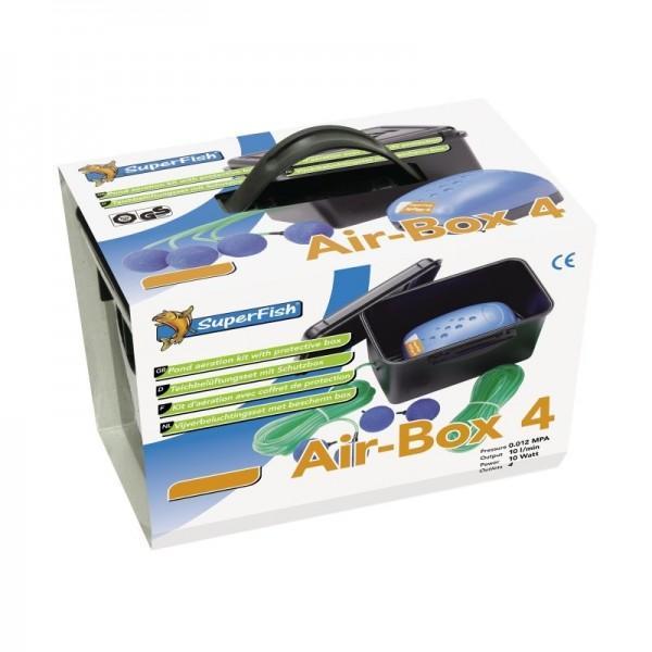 Superfish Air-Box 4 Belüftungs - Set (600 l/h) für Teich u. Aquarium