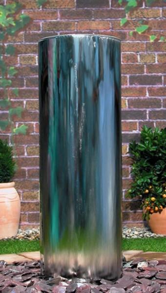 Amrum als Komplettset Edelstahlwasserspiel 120cm x 40cm x 20cm,inkl. Becken und Deckel