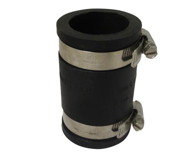 """Flexibler Rohrverbinder Flexfitting Muffe 1 1/2""""/ 50mm Klemmbereich 50-44 mm"""