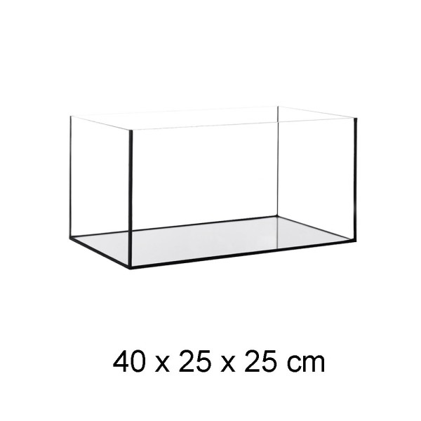 Aquarium Becken Glasbecken 40x25x25 cm inkl. Unterlage + Steinboden Terracotta