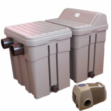 Agriline Teichfilterset 20000 mit UVC und Pumpe für Teich bis 20000 L