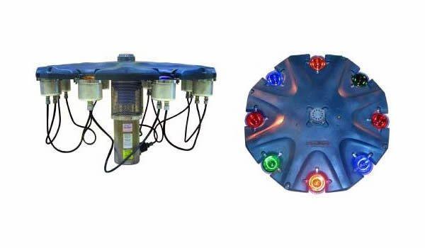 Aquamaster Schwimmende Fontäne 6X150W Beleuchtungsset