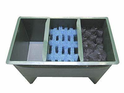 3-Reihenkammer Filter GFK bis 20000 Liter + Füllung