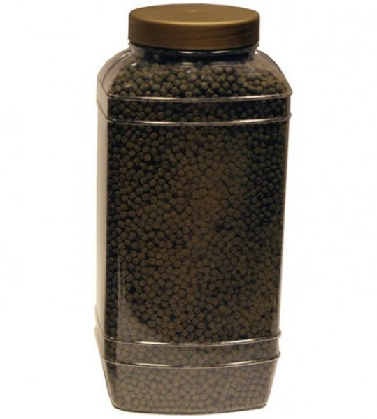SPIRULINA SCHWIMMENDES KOIFUTTER 5 Ltr Behälter (±2 Kg) medium Pellets (6mm)
