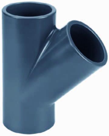 PVC-T-Stück 45° Ø 90