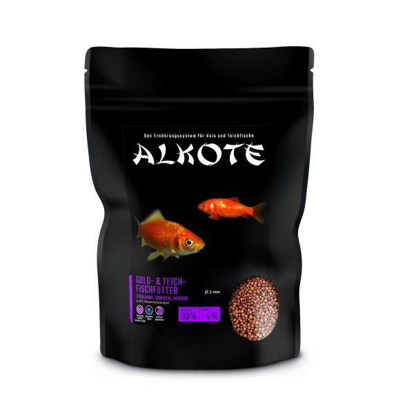 alkote-gold-teichfischfutter-450-g-2-mm-fur-alle-gartenteichfische, 6.41 EUR @ hanako-koi