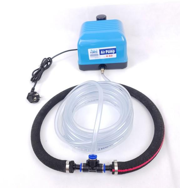 AquaForte V-60 Teichbelüfter-Set mit Belüfterring Ø 35 cm