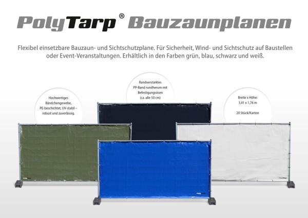 Bauzaunplane - Sichtschutz für Bauzaun 1,76m x 3,41m