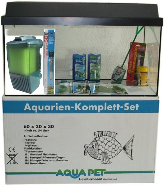 AP Aquarien-Komplett-Set 60x30x30 cm mit Vitatech 54 Liter