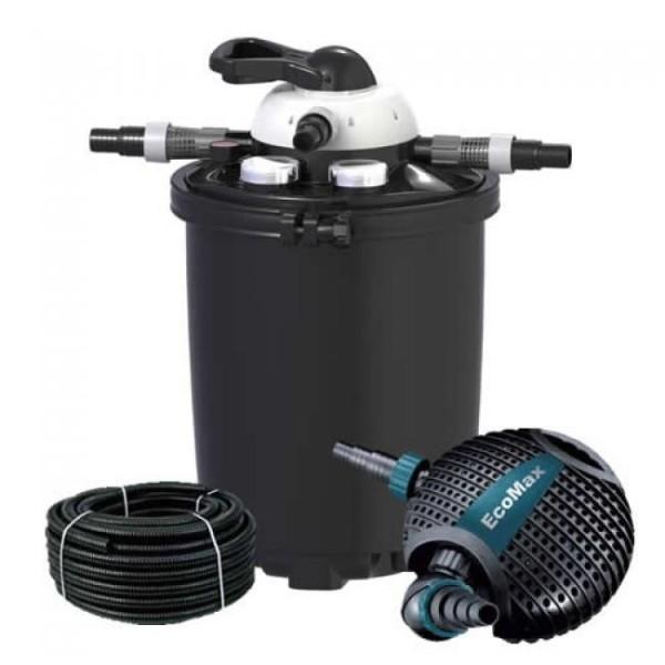 Velda Clear Control 50 Druckfilter 20000 + UVC 18W +Aquaforte O-10000 Pumpe, Teichfilter SET