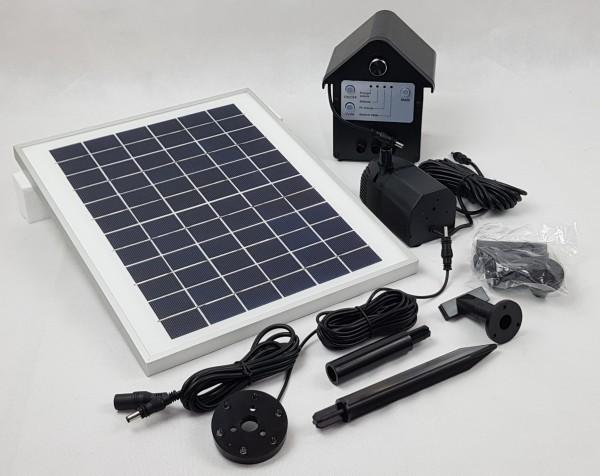 Solar Teichpumpe Fontäne 1800L mit Batterie