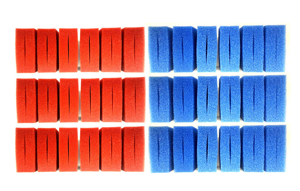 36 Filterschwamm Set 18+18 für Oase Biotec 18