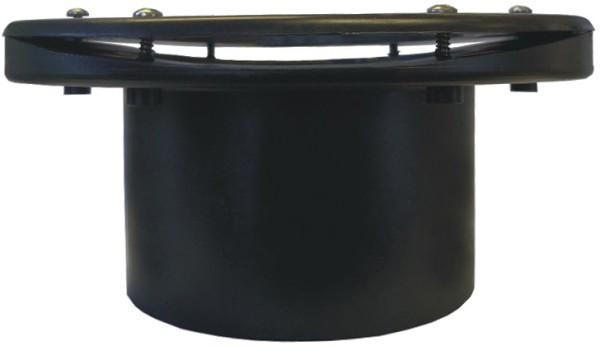 Xclear Flansch / Tankdurchführung gekrümmt Ø 110 mm (ABS / schwarz) für Vortex + Fässer