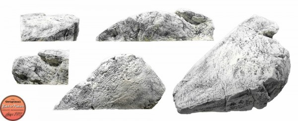 Back to Nature Aquarium Modul White Limestone H, 83x42x24cm