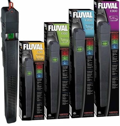 FLUVAL E 50 100 200 300 Watt Aquarium Heizer Heizstab & LCD-Thermometer-Anzeige